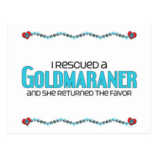 I Rescued a Goldmaraner (Female) Dog Adoption Postcard