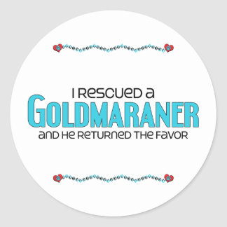 I Rescued a Goldmaraner (Male) Dog Adoption Design Classic Round Sticker