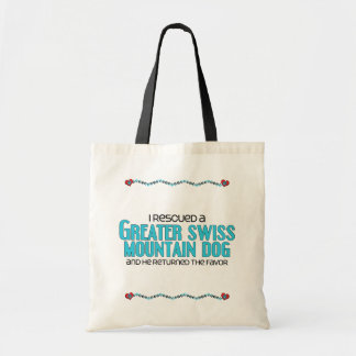 I Rescued a Greater Swiss Mountain Dog (Male Dog) Budget Tote Bag