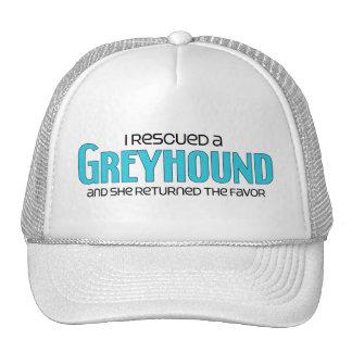 I Rescued a Greyhound (Female Dog) Mesh Hats