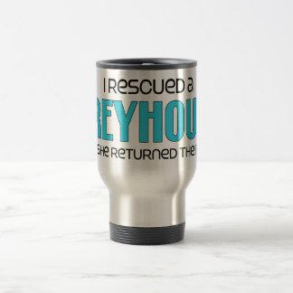 I Rescued a Greyhound (Female Dog) Mugs