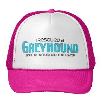 I Rescued a Greyhound (Male Dog) Hats
