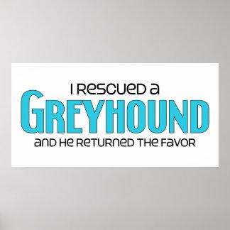 I Rescued a Greyhound Male Dog Print