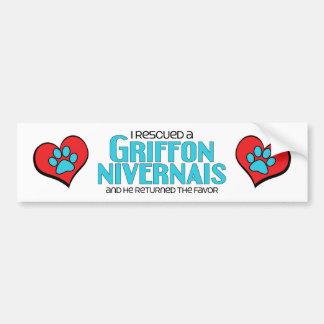 I Rescued a Griffon Nivernais (Male Dog) Car Bumper Sticker