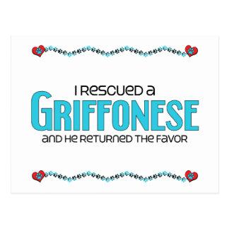 I Rescued a Griffonese (Male) Dog Adoption Design Postcard