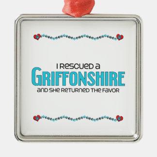 I Rescued a Griffonshire (Female) Dog Adoption Ornament