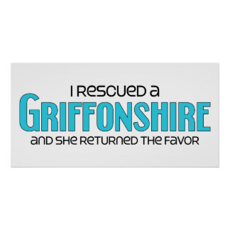 I Rescued a Griffonshire (Female) Dog Adoption Poster