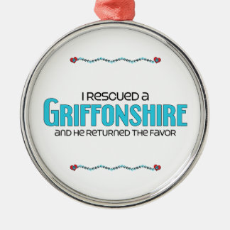 I Rescued a Griffonshire (Male) Dog Adoption Christmas Tree Ornament