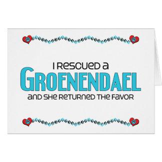 I Rescued a Groenendael (Female Dog) Card