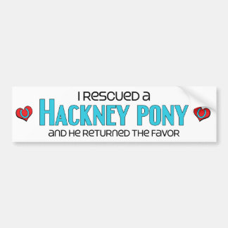 I Rescued a Hackney Pony (Male Pony) Bumper Stickers