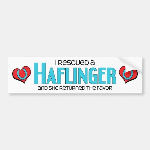 I Rescued a Haflinger (Female Horse) Bumper Sticker