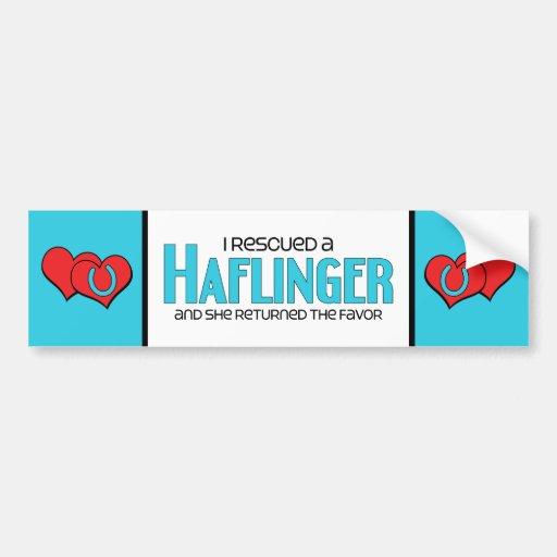I Rescued a Haflinger (Female Horse) Bumper Stickers