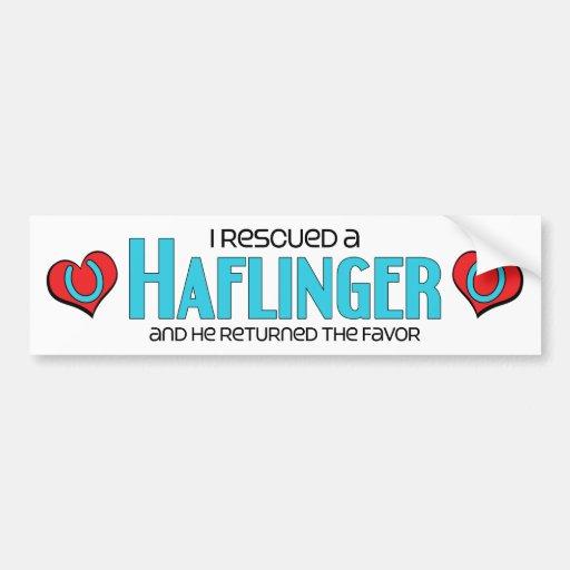 I Rescued a Haflinger (Male Horse) Bumper Stickers