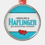 I Rescued a Haflinger (Male Horse) Ornament