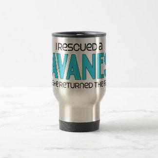 I Rescued a Havanese (Female Dog) 15 Oz Stainless Steel Travel Mug