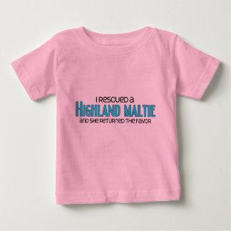 I Rescued a Highland Maltie (Female) Dog Adoption Tshirts