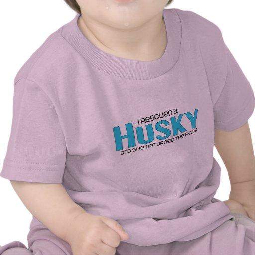 I Rescued a Husky (Female Dog) T Shirts