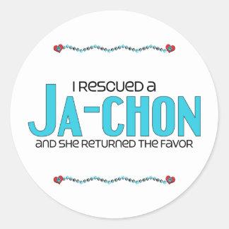 I Rescued a Ja-Chon (Female) Dog Adoption Design Classic Round Sticker