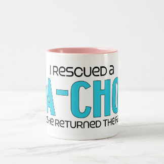 I Rescued a Ja-Chon (Female) Dog Adoption Design Two-Tone Coffee Mug