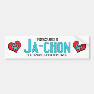 I Rescued a Ja-Chon (Male) Dog Adoption Design Bumper Sticker