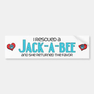 I Rescued a Jack-A-Bee (Female) Dog Adoption Bumper Sticker