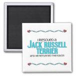 I Rescued a Jack Russell Terrier (Male Dog) 2 Inch Square Magnet