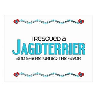 I Rescued a Jagdterrier (Female Dog) Postcard