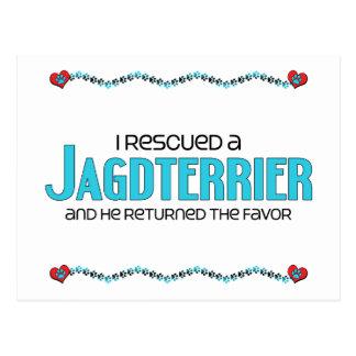 I Rescued a Jagdterrier (Male Dog) Postcard