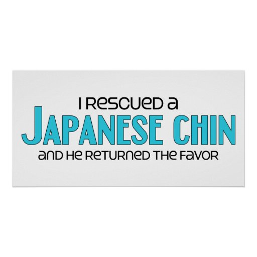 I Rescued a Japanese Chin (Male Dog) Posters
