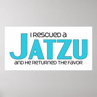 I Rescued a Jatzu (Male) Dog Adoption Design Poster