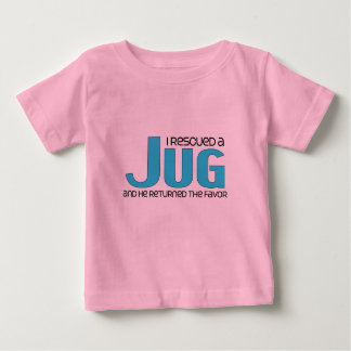 I Rescued a Jug (Male) Dog Adoption Design Baby T-Shirt