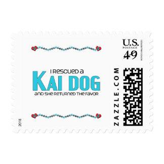 I Rescued a Kai Dog (Female Dog) Stamps