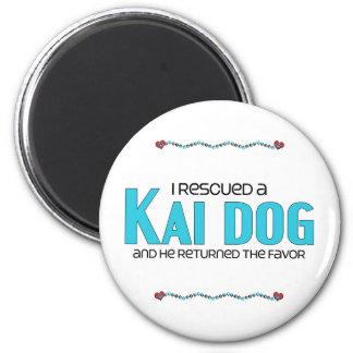 I Rescued a Kai Dog (Male Dog) 2 Inch Round Magnet