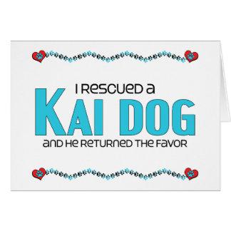 I Rescued a Kai Dog (Male Dog) Greeting Card