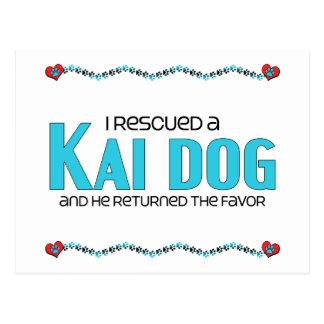 I Rescued a Kai Dog (Male Dog) Postcard