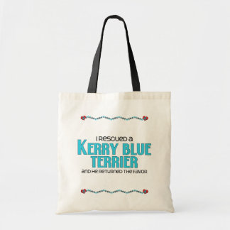 I Rescued a Kerry Blue Terrier (Male Dog) Tote Bag