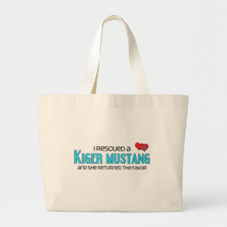 I Rescued a Kiger Mustang (Female Horse) Tote Bag