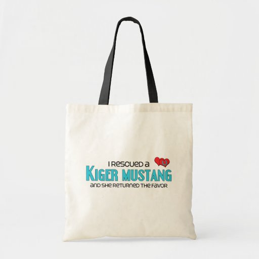 I Rescued a Kiger Mustang (Female Horse) Tote Bags