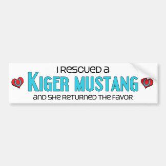 I Rescued a Kiger Mustang (Female Horse) Bumper Sticker