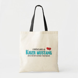 I Rescued a Kiger Mustang (Male Horse) Tote Bags
