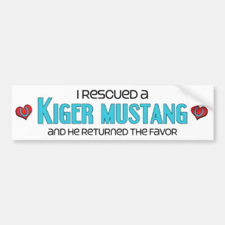 I Rescued a Kiger Mustang (Male Horse) Bumper Sticker