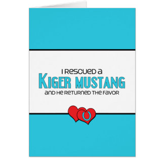 I Rescued a Kiger Mustang (Male Horse) Cards