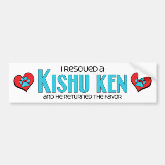 I Rescued a Kishu Ken (Male Dog) Car Bumper Sticker