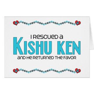 I Rescued a Kishu Ken (Male Dog) Greeting Card