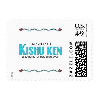 I Rescued a Kishu Ken (Male Dog) Postage Stamps