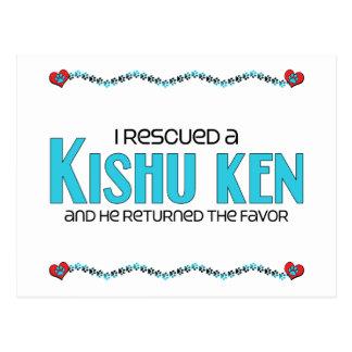 I Rescued a Kishu Ken (Male Dog) Postcard
