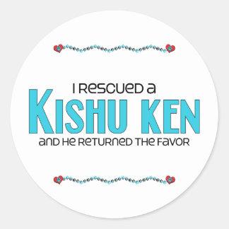 I Rescued a Kishu Ken (Male Dog) Classic Round Sticker