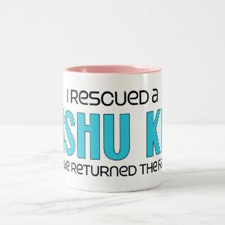 I Rescued a Kishu Ken (Male Dog) Two-Tone Coffee Mug