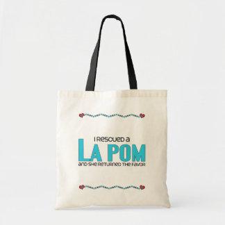 I Rescued a La Pom (Female) Dog Adoption Design Budget Tote Bag
