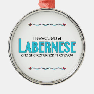 I Rescued a Labernese (Female) Dog Adoption Design Metal Ornament